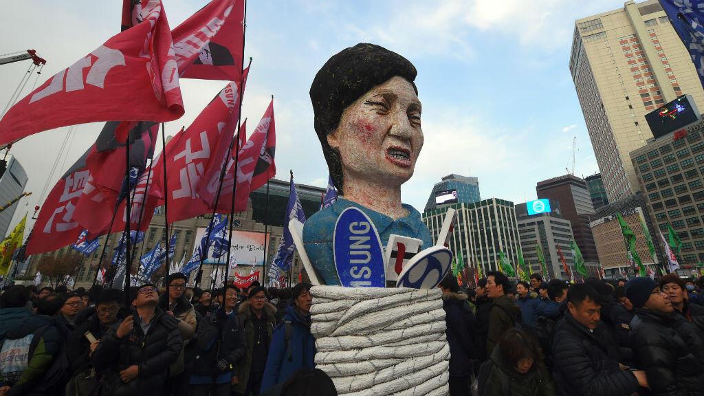 Manifestation à Séoul pour la destitution de Park Geun-hye, en décembre 2016