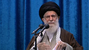 Ayatollah Ali Khamenei giving Friday sermon in Tehran, Iran, on January 17, 2020.