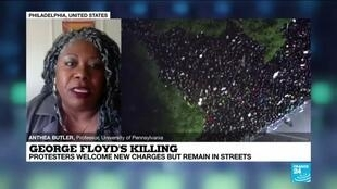 2020-06-04 14:03 George Floyd's Killing: Protester Welcome New Charges But Remain In Streets