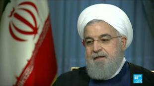 """Le président iranien a accusé les États-Unis de vouloir mener une """"guerre psychologique"""", le 6 août 2018."""