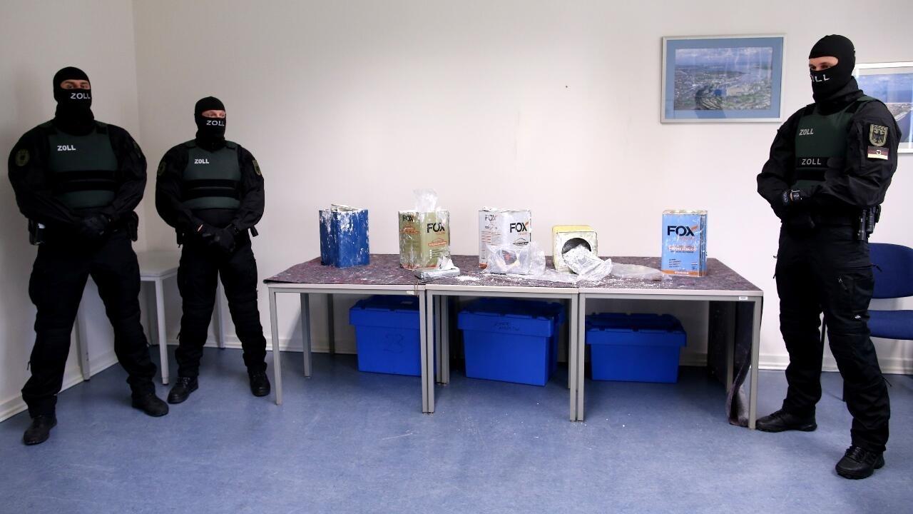German investigators seize 23 tonnes of cocaine in record European haul