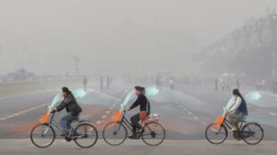 """Les """"vélos sans pollution"""" qui seront installés en Chine dès la fin de l'année."""