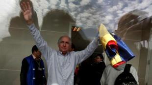 Antonio Ledezma, exalcalde de Caracas, a su llegada a Bogotá. 17 de noviembre 2017