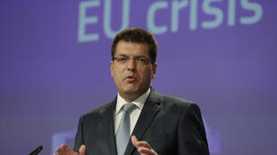 European Commissioner in charge of Crisis Management Janez Lenarcic, pictured in June 2020, aid the EU had mobilised 64 million euros ($79 million) for the emergency response in Lebanon