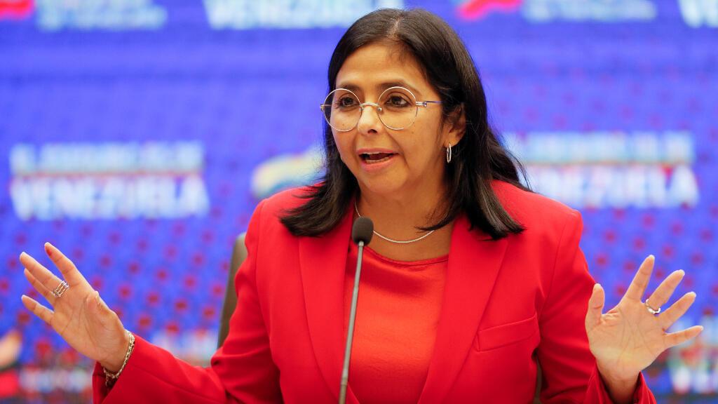 La vicepresidenta de Venezuela, Delcy Rodríguez, está en la lista negra.
