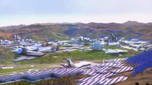 La future ville bâtie autour de la technologie de la blockchain telle qu'imaginée par le millionnaire Jeffrey Berns.