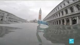 2019-11-15 14:46 Venice's St. Mark's square closed as state of emergency declared