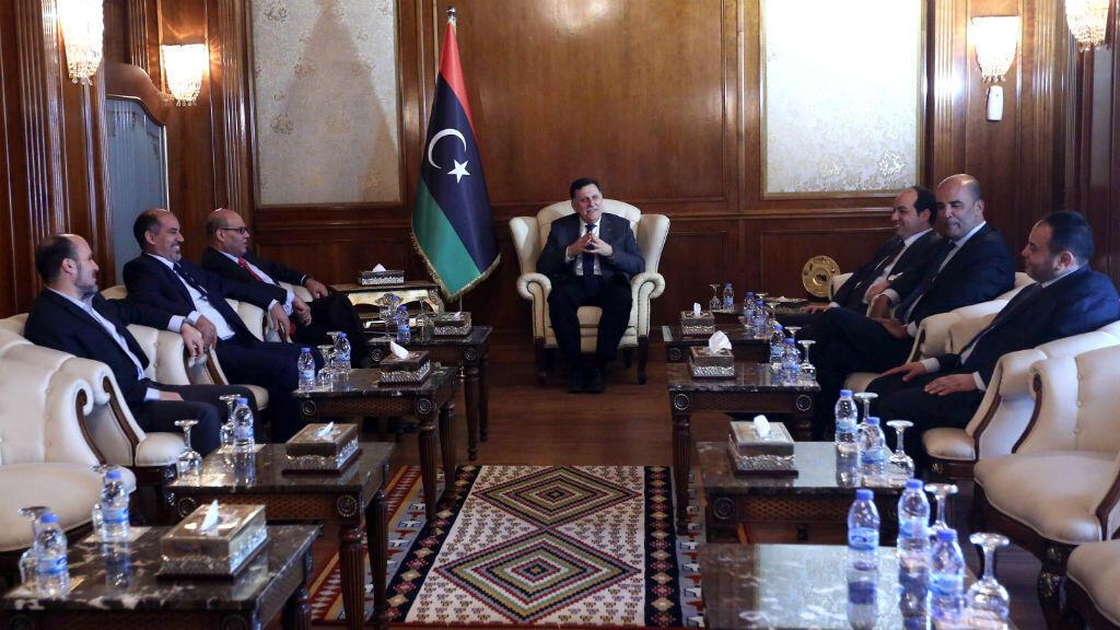 Des membres du gouvernement d'union nationale (GNA), rassemblés le 11 juillet à Tripoli.