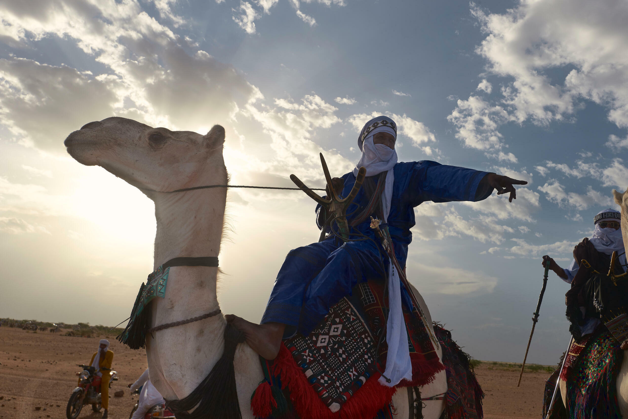 Nomads converge on the oasis town of Ingall to mark the end of the rainy season