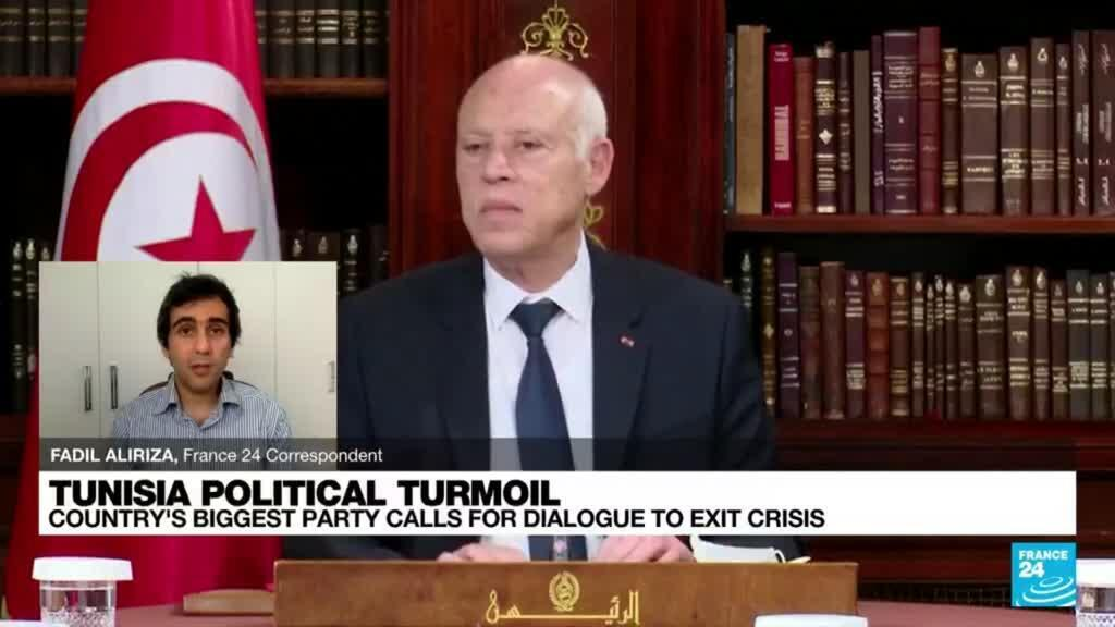 2021-07-27 14:07 Tunisian Islamist party calls for dialogue to resolve crisis