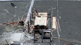 الآثار الناجمة عن هجوم حوثي على مطار أبها السعودي 13 يونيو/حزيران 2019