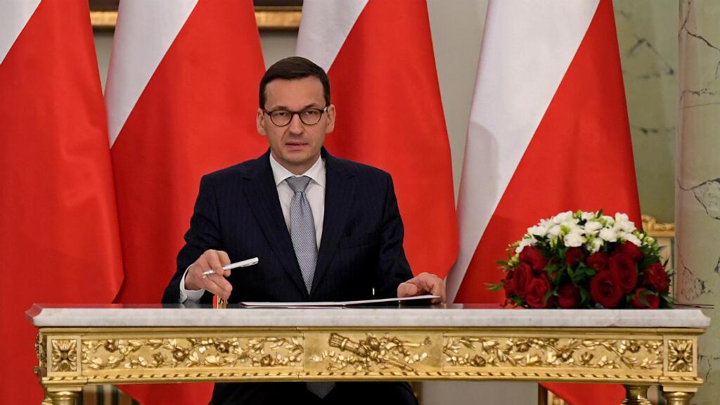 رئيس الوزراء البولندي الجديد ماتيوش مورافيسكي في 11 كانون الأول/ ديسمبر 2017