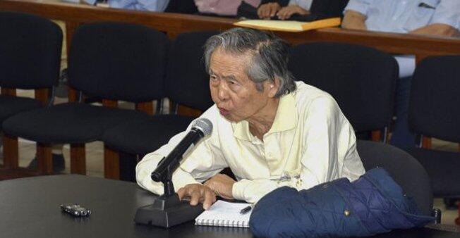 El expresidente Alberto Fujimori en una corte de Lima, el 20 de abril de 2018.