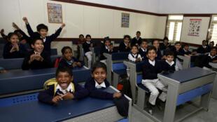 L'inauguration d'une école à Delhi (janvier 2017).