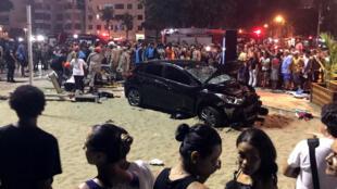 El vehículo que atropelló a decenas de personas en la playa de Copacabana en Río de Janeiro el 18 de enero de 2018.