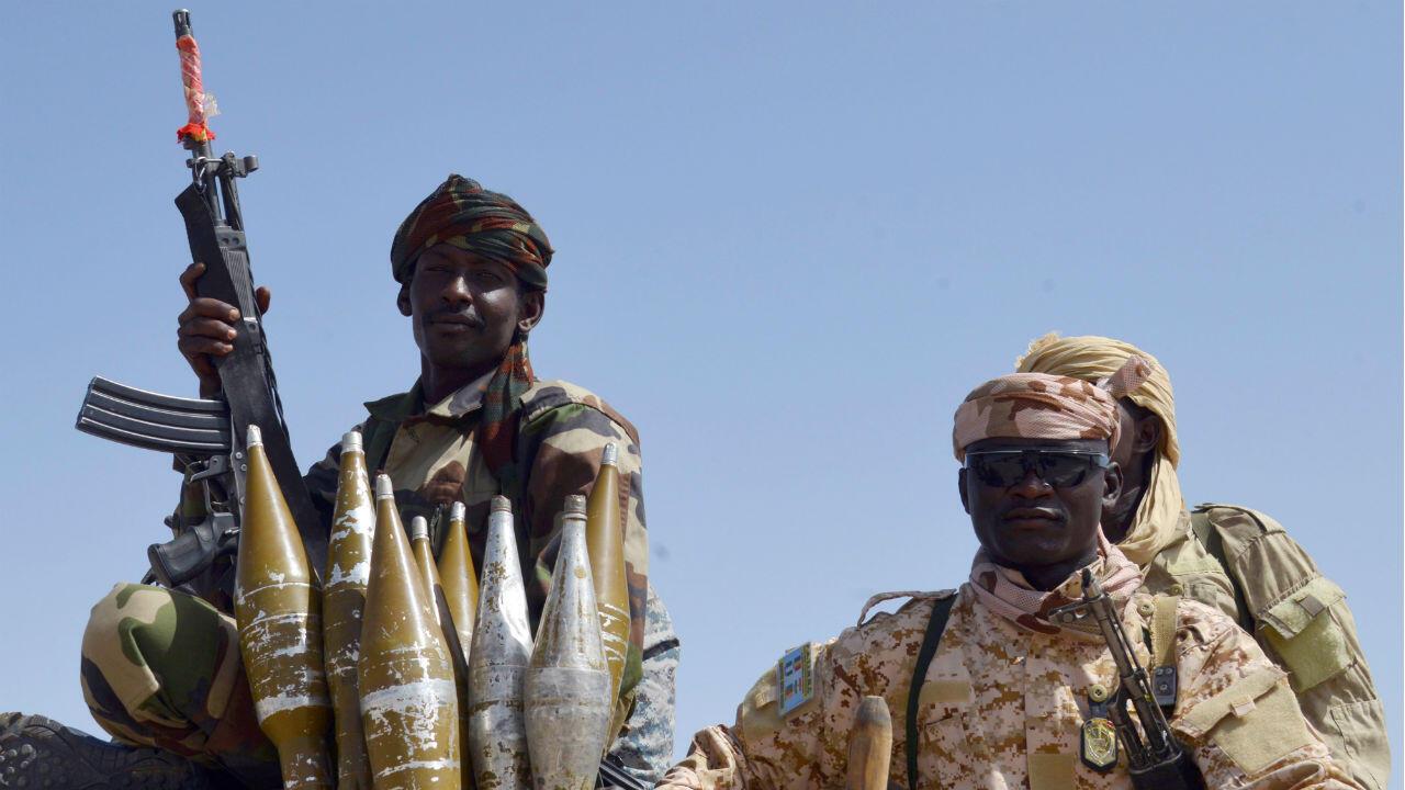 Des soldats tchadiens lors d'une opération dans le nord du Nigeria.