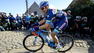 Le cycliste Antoine Demoitié lors du Grand Prix E3, le 26 mars 2016.