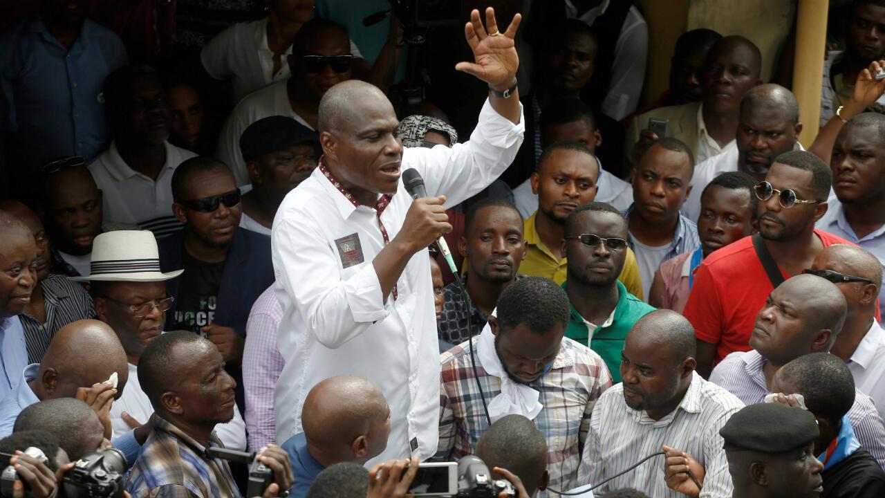 Martin Fayulu, se dirigió a sus seguidores y ratificó su rechazo a los resultados de las elecciones presidenciales por lo que anunció el 11 de enero de 2019 que impugnará los mismos