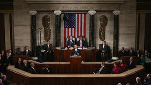 باراك أوباما أمام الكونغرس الأمريكي يناير/كانون الثاني 2015