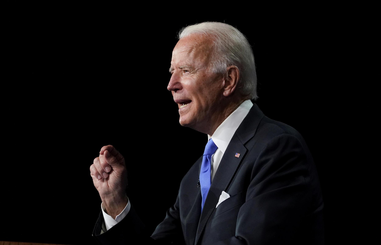 Joe Biden accepte l'investiture du Parti démocrate, jeudi 20 août 2020 à Wilmington, dans le Delaware.