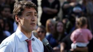Le Premier ministre canadien, Justin Trudeau, à Winnipeg, le 19octobre2019.