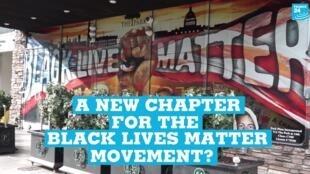 A Black Lives Matter mural in Washington DC.
