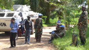 Photo d'archive montrant un véhicule et des membres de la Monusco dans la région du Nord-Kivu.