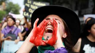 Manifestation pour les droits des femmes, à Guadalajara, au Mexique, le 8 mars 2020.