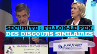 Marine Le Pen (FN) et François Fillon (LR) sont tous deux candidats à la présidentielle.
