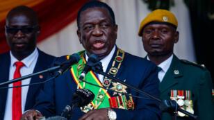Le président élu du Zimbabwe, Emmerson Mnangagwa, à Harare, le 14 août 2018.