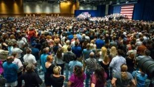 Meeting en soutien à la candidature du magnat de l'immobilier Donald Trump, le 11 juillet 2015 à Phoenix.