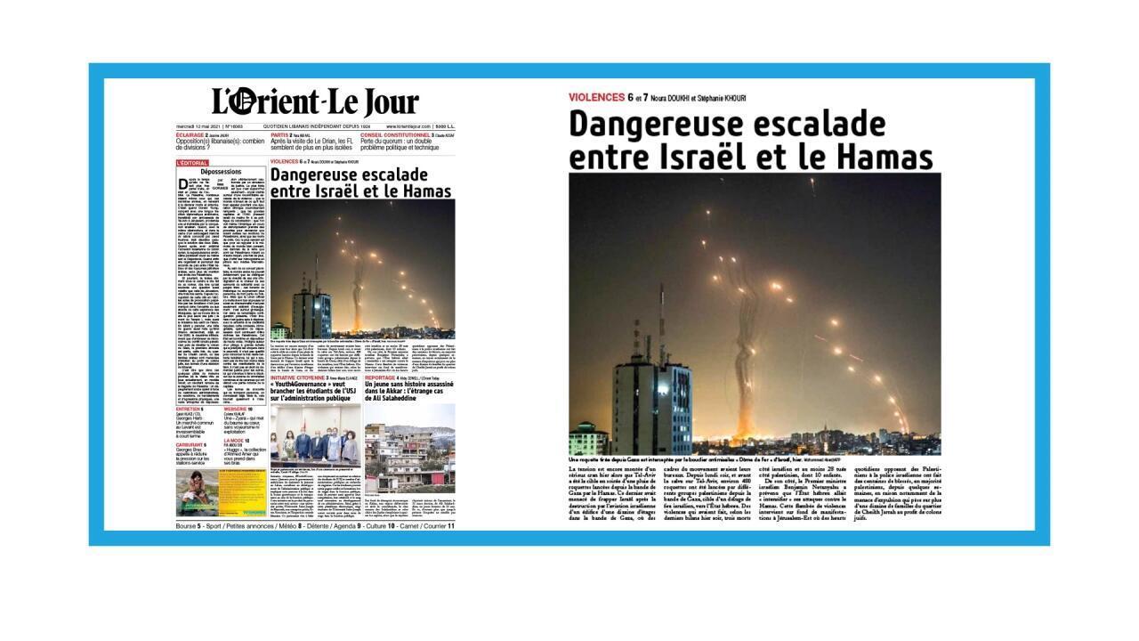 """Tirs de roquettes depuis Gaza neutralisés par le """"Dôme de Fer"""""""