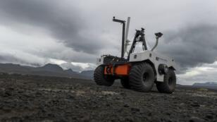 L'astromobile de la Nasa en Islande, le 17 juillet 2019.