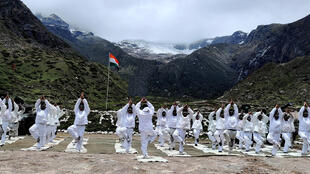 More mellow times in 2019 as Indian and Chinese border troops do yoga together at the Nathu La Pass
