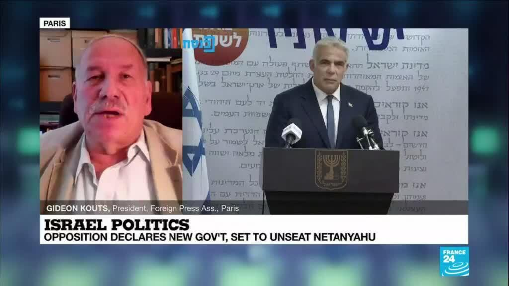 2021-06-03 15:08 Opposition declares new gov't, set to unseat Netanyahu