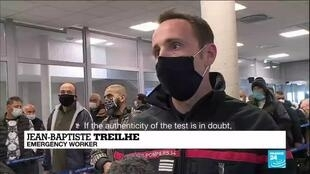 2021-01-15 13:09 French govt tightens Covid-19 border controls to fight virus