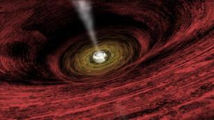 Une représentation d'un trou noir supermassif par la Nasa