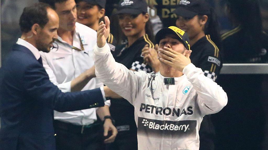 Le Britannique Lewis Hamilton au Grand Prix d'Abu Dhabi, le 23 novembre 2014.