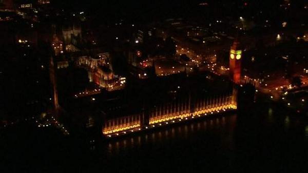 Le centre de Londres plongé dans le noir