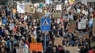 The climate change protests in Switzerland were inspired by the young Swedish activist Greta Thunberg