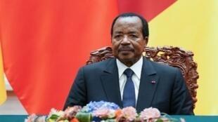 Image d'archive de Paul Biya, président du Cameroun.