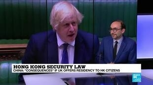 2020-07-02 12:05 China warns of 'consequences' if UK offers residency to Hong Kong citizens over security law
