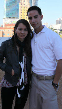 Monica Lazaro with her boyfriend