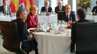 Les principaux dirigeants européens et le président américain sortant, Barack Obama, se sont réunis une dernière fois à Berlin vendredi 18 novembre 2016.
