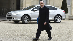 Le ministre français de l'Intérieur Bernard Cazeneuve à l'Élysée le samedi 19 mars.