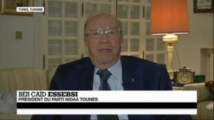 Béji Caïd Essebsi, président de Nidaa Tounès.