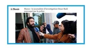 Convocation du journaliste Omar Radi par la justice marocaine