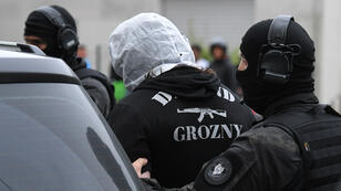 Un ami de Khamzat Azimov, Abdoul Hakim A., est interpellé par la police, le 13 mai 2018, à Strasbourg.