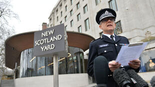 Le chef de l'anti-terrorisme de Scotland Yard, Mark Rowley, jeudi matin devant la presse.