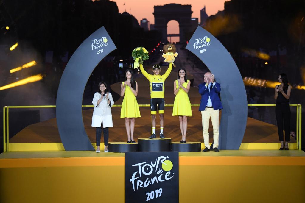 Egan Bernal, ganador del Tour de Francia 2019.